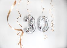 Do you have a milestone birthday coming up? Why not jazz up your day with some foil number balloons?⠀⠀⠀⠀⠀⠀⠀⠀⠀Let LPF Decor bring to you the latest in balloon decorations while you get your outfit ready! Turning Thirty, Turning 30, Happy Birthday Wishes, 30th Birthday, Free Birthday, Birthday Ideas, Birthday Cake, Balloon Pictures, Grey Pictures