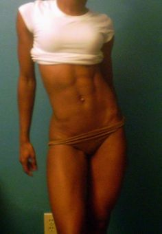 """""""Skinny"""" Fit. You do NOT get to look like this by starving yourself. This is also proof that women can be muscular and still thin. Strength is Beauty."""