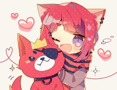 りぬ吉可愛い Anime Neko, Kawaii Anime, Anime Cat Boy, Neko Boy, Kawaii Chibi, Cute Anime Boy, Cute Chibi, Anime Art, Chibi Girl