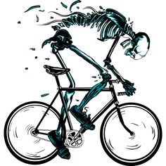 worn out is a T Shirt designed by audi to illustrate your life and is available at Design By Humans Bicycle Decor, Bicycle Art, Bicycle Design, Bicycle Tattoo, Bike Tattoos, Tatoos, Velo Biking, Motorised Bike, Bike Illustration