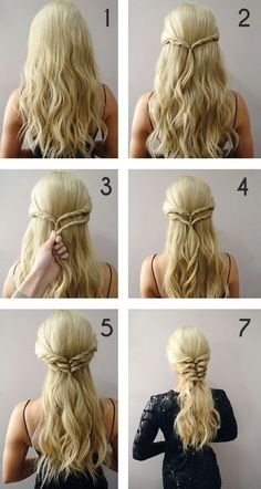 170 Easy Hairstyles Step by Step DIY hair-styling can help you to stand apart fr. - 170 Easy Hairstyles Step by Step DIY hair-styling can help you to stand apart from the crowds Cute Braided Hairstyles, Romantic Hairstyles, Wedding Hairstyles, Simple Braided Hairstyles, Super Easy Hairstyles, Easy Hairstyles For Prom, Easy Hair Braids, Easy Prom Hair, Child Hairstyles