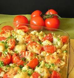 zapiekanka makaronowa,zapiekanka z kalafiorem,zapiekanka kalafiorowo-pomidorowa,zapiekanka