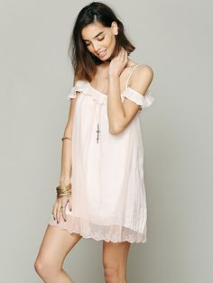 Free People Intimately Free People Off The Shoulder Slip, $69.95
