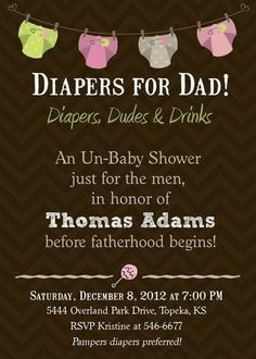 Daddy diaper invite