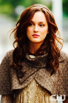 Blair Waldorf in Marc by Marc Jacobs (dress) and Trina Turk (cape)