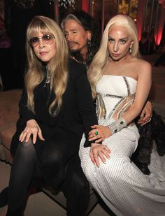 2014 Oscars Party Pics~Stevie Nicks, Steven Tyler and Lady Gaga attend the 2014 Vanity Fair Oscar Party Hosted By Graydon Carter on March 2014 in West Hollywood, California. American Horror Story, Steven Tyler Aerosmith, Graydon Carter, Stevie Nicks Fleetwood Mac, Stevie Nicks Quotes, Vanity Fair Oscar Party, New People, Famous People, Our Lady