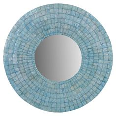 $137 Showcasing a tile motif in turquoise, this eye-catching wall mirror brings an artful touch to your living room or hallway.  Product:...