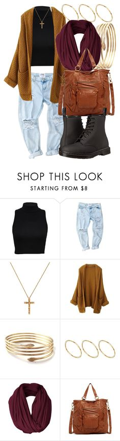 """""""12 2 15"""" by miizz-starburst ❤ liked on Polyvore featuring ASOS, T-shirt & Jeans and Dr. Martens"""