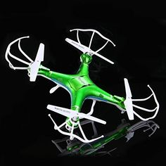 Quadcopter H5P Green Drones for sale with camera. Drone with Double flight time. Quadcopter LED lighting Q-copter has Return Home feature.