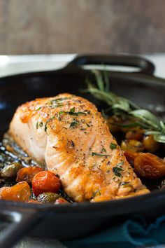 Probably the best seared salmon you will ever taste, and the easiest to cook! Make this for a fast but healthy dinner!  via @foodnessg