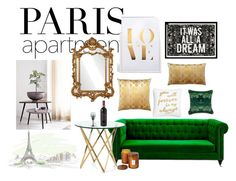 """""""paris apartment"""" by mattyblue ❤ liked on Polyvore featuring interior, interiors, interior design, home, home decor, interior decorating, Match, Oliver Gal Artist Co., JEM and Levtex"""