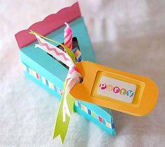 DIY Slice Of Birthday Cake Invitations via Cricut