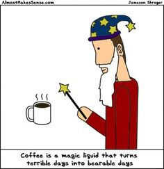 Coffee: ...with bottomless cups of coffee...