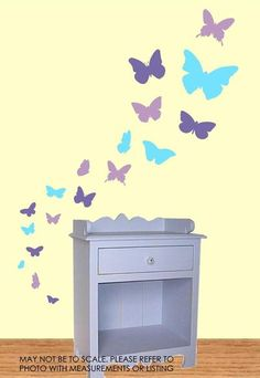 Butterfly Wall Decals 3 Color
