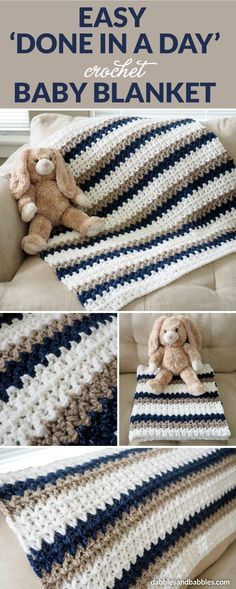 Easy 'Done in a Day' Crochet Baby Blanket This week, I found out that the couple who have been helping to clean our Airbnb suite were going to be taking a break. They had a great reason –…
