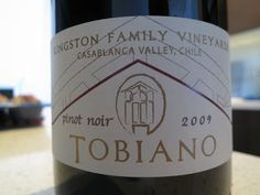 Wine Review: 2009 Kingston Family Vineyards Tobiano Pinot Noir from Casablanca Valley, Chile