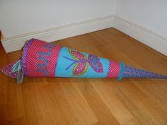 Schultüten - Genähte Schultüte, Zuckertüte, Motiv Schmetterling - ein Designerstück von Anke-Hinrichs bei DaWanda
