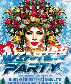 free winter party psd template
