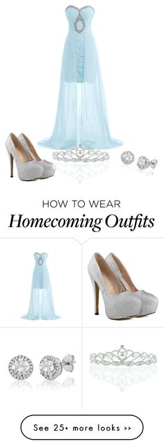 """Homecoming Queen meets Cinderella"" by kaaiitbaaiit on Polyvore featuring Kate Marie"