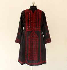Baluchi Dress Tribal Tunic Baluchi Rug Baluchi Dress Mirror Work