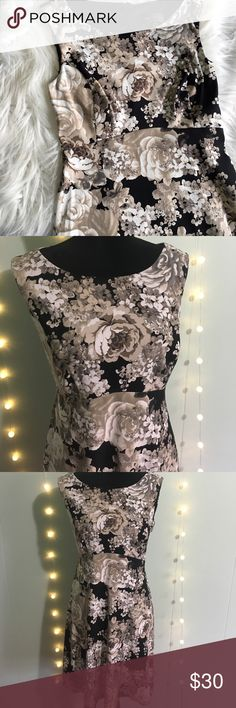 Connected Apparel Floral Dress Size 8 The perfect dress.  The cut, fabric structure and print are flattering and make you feel like a million dollars.  You can wear it anywhere! Work, wedding, church, date night, it works for everything.  Excellent condition. Connected Apparel  Dresses