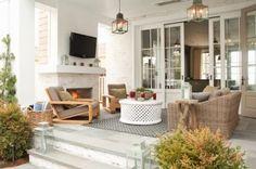 ooo doors, fireplace, flooring stone, lighting....