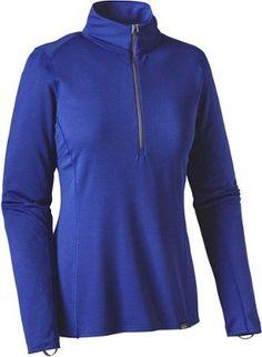Patagonia Women's Capilene Midweight Zip-Neck Long Underwear Top Harvest Moon Blue XL
