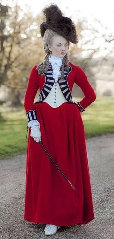 The Scandalous Lady W - based on Lady Seymour Worsley the portrait The Lady in Red