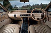1981 Rover SD1 Vanden Plas V8 powered luxury car with sports car performance, interior - Stock Image - E61E9A
