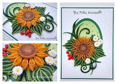 Sunflower Quilling card by Pily Núñez/Chile