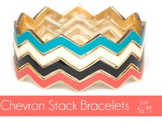 Super cute chevron stack bracelets from Screaming Owl