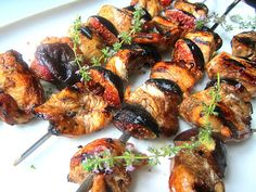 Stacey Snacks: Balsamic Chicken & Fig Brochettes