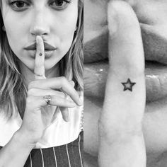 Hailey Baldwin Star Finger Tattoo | Steal Her Style