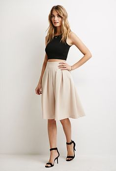Pleated A-Line Skirt | Forever 21 | #thelatest | forever 21| the ...