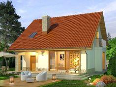 Projekt domu Bella 4 - widok 3 Style At Home, Home Fashion, Bella, Gazebo, Outdoor Structures, House Styles, Outdoor Decor, Studio, Home Decor
