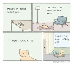 Cat Rent - Poorly Drawn Lines