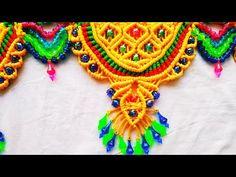 Macrame Beautiful New Design Toran Macrame Design, Macrame Art, Draw Eyes, News Design, Connect, Crochet Necklace, Facebook, Wall Art, Youtube