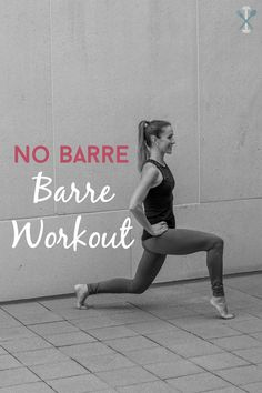 This barre workout can be done anywhere, any time. No bar required. Tone your thighs, booty, and sculpt your core with beginner and advanced suggestions!