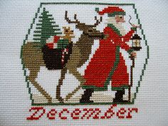 Completed Cross Stitch Prairie Schooler Santa with by silviaol