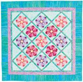 """Primrose Patch Quilt Kit now 40% off! Just $59.99 for a 58"""" x 58"""" batik wall or throw quilt kit. Foundation pieced. Designed by Eileen Fowler."""