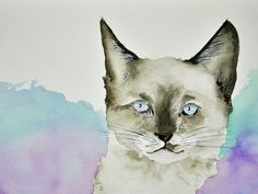 Purrfect   Watercolor painting by Lynda Nolte