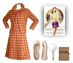 """Nancy Drew"" by polygirl06 ❤ liked on Polyvore featuring Bill Blass, Aéropostale, Cedes and nancydrew"