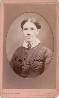 Mourning CDV 05: This woman has a very large jet cameo brooch at her neckline.