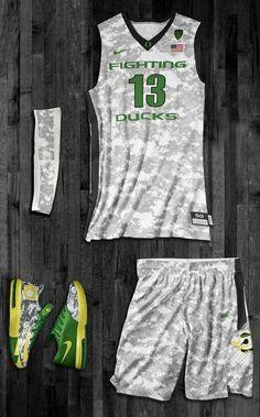 9a2785f1c8c 2013 Oregon Ducks Nike Hyper Elite Camo Uniforms for Armed Forces Classic