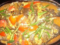 Arsik is an Indonesian fish dish of the Batak Toba people and Mandailing people of North Sumatra, usually using the common carp (known in Indonesia as 'ikan mas' (gold fish).Distinctively Batak elements of the dish are the use of torch ginger fruit ('asam cikala'), and 'andaliman' (Indonesian szechuan pepper). Common Indonesian spices such as shallots, garlic, ginger, fresh turmeric root and chili are also used.