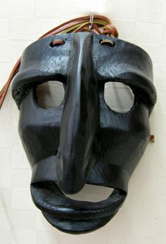 "Mamutones traditional Sardinian ""Mamutones"" mask. Hand carved in wood"