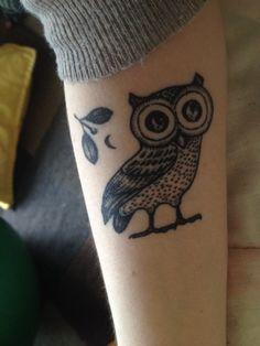 The Owl of Athena, done by Zeke @ Chronic Ink Markham, Canada