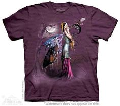 woman's tshirt multicolored stonewashed dragon by LIBERTYHORSE, $11.99