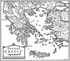 Ancient map of Greece and Greek Islands - Greeka.com  For Plutarch
