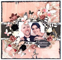 "Ma Cherie ""Together Forever"" Layout created for Kaisercraft by Alicia McNamara"